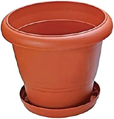 Nilkamal Planters for Garden, Indoor and Outdoor with Tray (Large Size-12 Inch, Pack of 2)