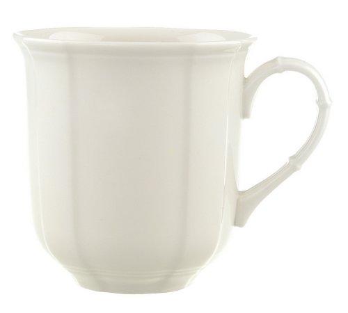 Villeroy & Boch Manoir Kaffeebecher, 300 ml, Höhe: 9 cm, Premium Porzellan, Weiß