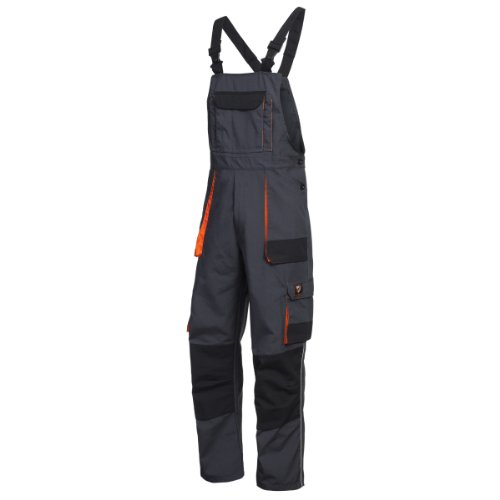Cargo-Latzhose SHIELD Trend , anthra/ schwarz/ orange Gr. 54