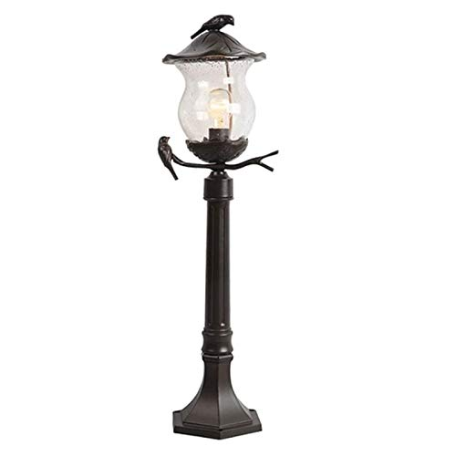 Post Cap Lamp Patio Garden Decoration Outdoor Post Light Fixture Mounted, Exterior Post Lantern One-Light LED Street Light,Pier Mount Lights With Black Finish Seeded Glass,Outdoor Waterproof Lawn Ligh
