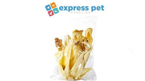 Express Pet Supplies 1kg (approx 30 Ears) Goat Ears Natural Hypoallergenic Dog Treat Chew Low Fat/Odour