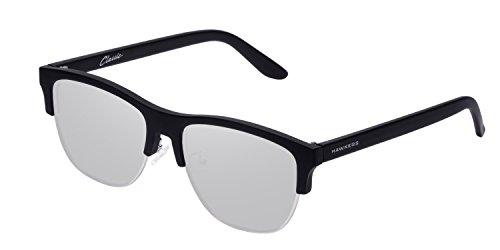 HAWKERS · CLASSIC FLAT · Carbon Black · Silver · Gafas de sol para hombre y mujer