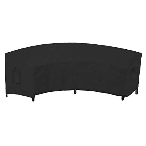 HIANG256 Patio Furniture Covers, Outdoor Sofa Cover, Waterproof Sectional Curved Couch Protector for Garden Half-Moon Sofa Sets