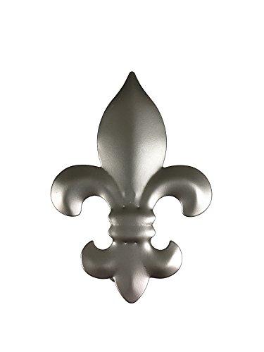 tilldekor Dekorationsklammer Lilie, Nickel-matt, Donauklammer aus Metall, 5 Stück im Beutel