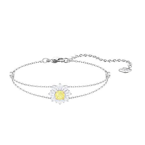 Swarovski Sunshine Armband für Frauen, weißes Kristall, rhodiniert