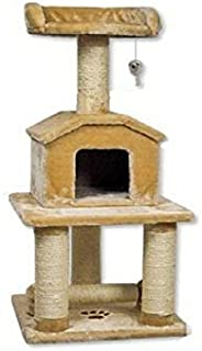 Go Pet Club 45 Tall Beige Cat Scratcher Cottage by Go Pet Club