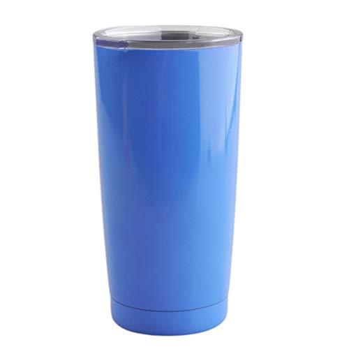 Taza de acero inoxidable 304 de 20 onzas con aislamiento al vacío de doble pared, tazas de viaje, tazas y vasos de viaje, el mejor regalo para mujeres, mamá, niños, familia, hermanos y amigos (azul)