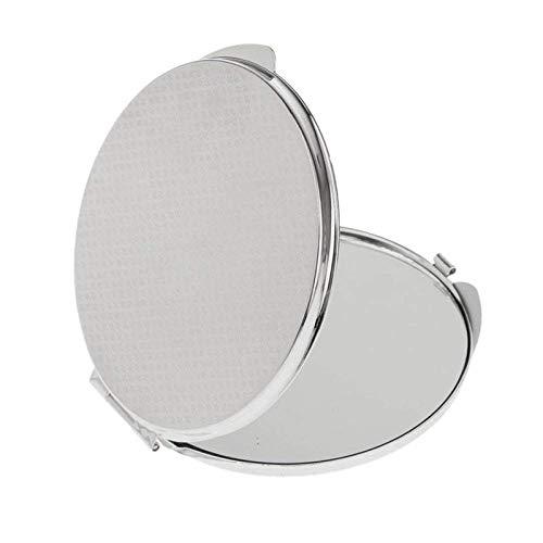 DAMO&GUYAN Miroir de Poche Pliable, Miroir de Maquillage Compact cosmétique - Argent,Argent