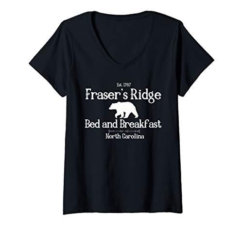 Womens Fraser's Ridge Bed and Breakfast Est 1767 V-Neck T-Shirt