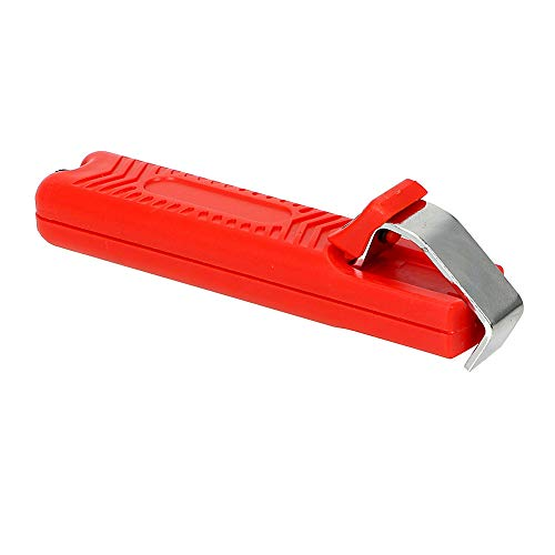 POIJKLMN Alambre Pelacables Cuchillo Cuchillo de Mini Electricista Cuchillo Pelacables Cable de PVC Mango de plástico 8-28 mm Ajustable