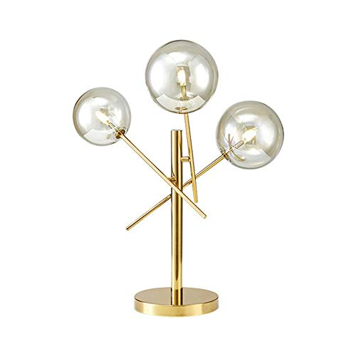 GDICONIC Table Lamp Lamp Art Modern Minimalist Bedroom Bedside Lamp/Light Luxury Adjustable Glass Table Lamp Creative Personality