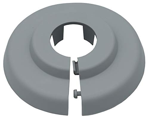 20 Stück Einzel-Rosetten für Heizungsrohre in lichtgrau (RAL 7035), Abdeckung für Heizungsrohre, Heizung, 15mm, 18mm, 22mm Polypropylen in Sonderfarben (18mm, RAL 7035)