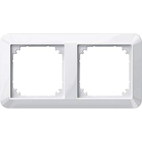 Preisvergleich Produktbild Merten 2fach Rahmen 1-M,  System M Polarweiß glänzend 389219
