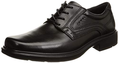 Black Oxford Shoes for Men Leather Size 7.5 Ecco