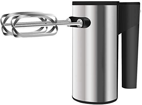 Multifunktionaler elektrischer tragbarer Hochleistungs-Handmixer, Eierschläger, Hochleistungs-Eierschläger, Handmixer für die Küche, 5-Gang-Einstellung, 2-seitiger Haken (Farbe: Silber)