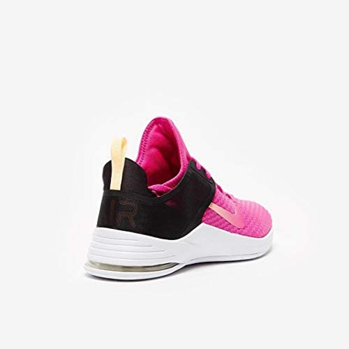 Nike Women's Air Max Bella Trainer 2 Sneaker, Fuchsia/Black/Melon, 6.5