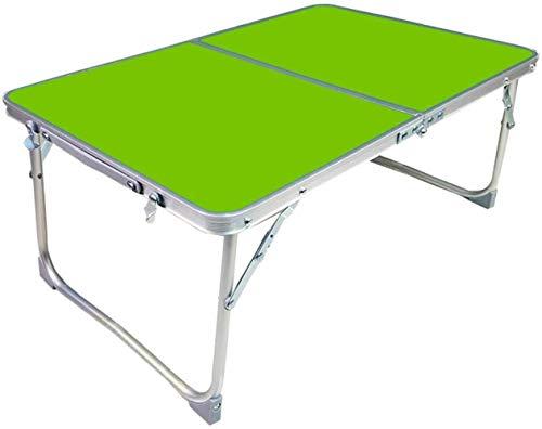 HSJ WYQ- Mesa Plegable mesas de Estudio Plegable Fácil pequeña Mesa Escritorio de la computadora 62 * 42 * 27.5cm (Color : Green)