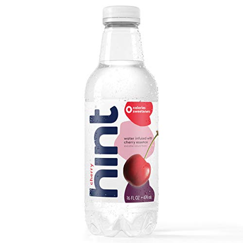 Hint Water Cherry (Pack of 12), 16 Ounce Bottles, Pure Water Infused with Cherry, Zero Sugar, Zero Calories, Zero Sweeteners, Zero Preservatives, Zero Artificial Flavors