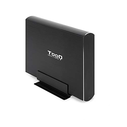 """TooQ TQE-3531B - Carcasa para Discos Duros HDD de 3.5"""", (SATA I/II/III, USB 3.0), Aluminio, indicador LED, Color Negro"""