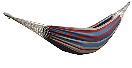 HENG FENG Brazilian Double Hammock 2 Person Cotton Fabric Hammock with Carrying Bag for...