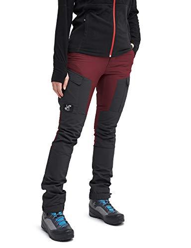 RevolutionRace GPX Pants Damen Wasserabweisende, Atmungsaktive und Strapazierfähige Outdoorhose zum Wandern, Trekking, Camping, Klettern und Agility, Bison Blood, 34