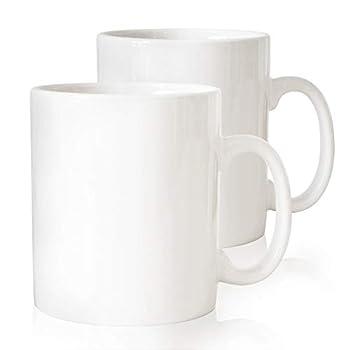 Serami 28oz Super Large White Coffee Mugs Large Handles and Ceramic Construction Set of 2