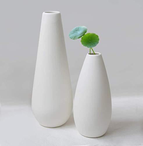 【Yoillione】フラワーベース 陶器花瓶 北欧 白 一輪挿し おしゃれ 和風花瓶 シンプル 花瓶 ホワイト インテリア 生け花 かびん 装飾品 インテリア プレゼント ギフト L 高さ30cm