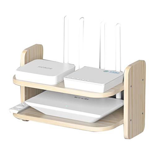 JIE KE Multifunción La instalación de Madera Maciza del enrutador Blanco es Simple, la Madera Natural es Estable, Duradera y no se deforma fácilmente (Color : White, Size : 30 * 20 * 10CM)