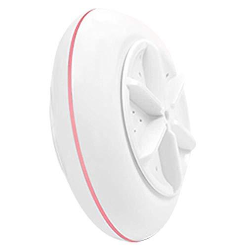 HMDJW Mini Machine Portable Les vaisselles, vêtements Turbine à ultrasons Mini Laveuse, Câble USB Pratique for la Maison Voyage Voyage d'affaires (Color : Pink)