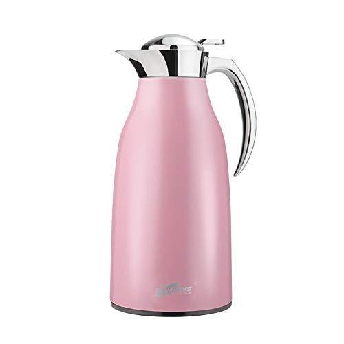 WYJW Thermos koffiezetapparaat voor 304 roestvrijstalen waterstofzuiger (kleur: PINK, maat: 1.6L)
