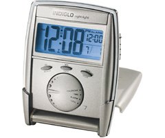 Indiglo Travel Alarm Clock with Multifunction Display