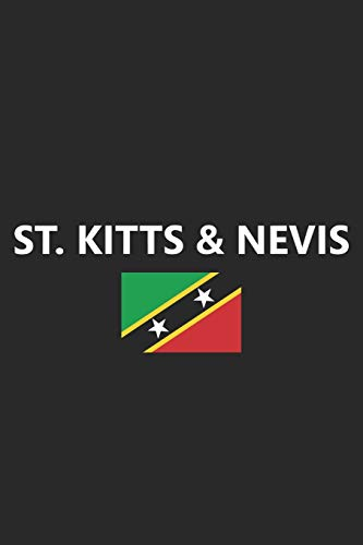 St. Kitts & Nevis: Beach Caribbean Island Country Flag Notebook Journal Lined Wide Ruled Paper Stylish Diary Vacation Travel Planner 6x9 Inches 120 Pages Gift