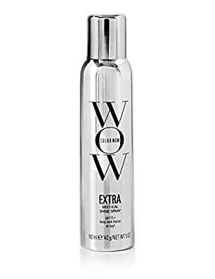 COLOR WOW Extra Mist-ical Shine Spray – Add Lightweight Gloss & Shine to Dull, Dry Hair with Botanical Shine Source Mullein