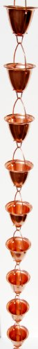 Stanwood ot-rc6e 4ft Taza Grande/Bell Lluvia de extensión Cadena–Cobre