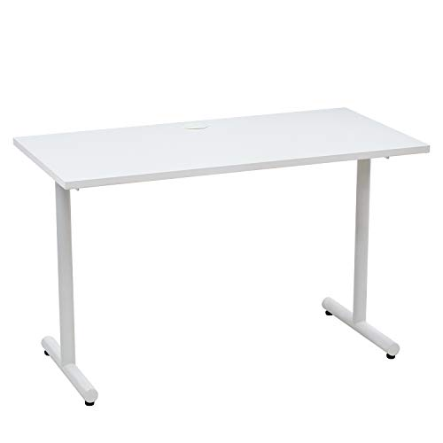 Vicllax Gaming Desk 47-Inch Modern Computer Writing Workstation Desk for Home Office, White