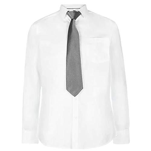 Pierre Cardin Hombre Camisa a Rayas o a Cuadros Manga Larga
