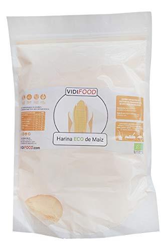 Harina de Maíz Orgánica - 1kg - Maíz Ecológico sin Gluten - Alternativa deliciosa y nutritiva a la harina de trigo