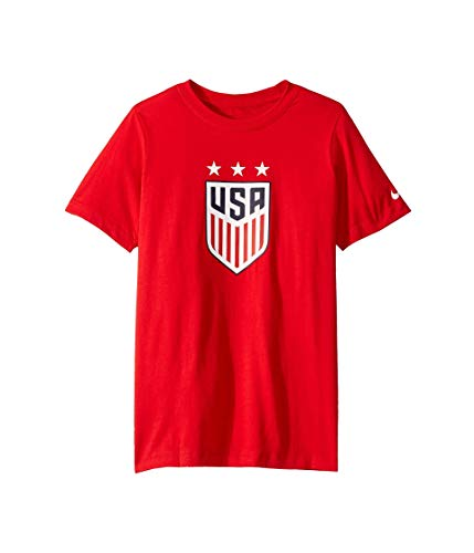 Nike Youth USA Soccer Crest Tee (Medium, Red)