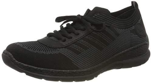 Rieker Damen Frühjahr/Sommer N22K4 Sneaker, Schwarz (Black-Grey/Schwarz 01), 40 EU