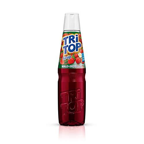 TRi TOP Getränkesirup Wald-Erdbeere 1 x 600ml | Sirup für Wassersprudler | 1 Flasche ergibt ca. 5 Liter Erfrischungsgetränk