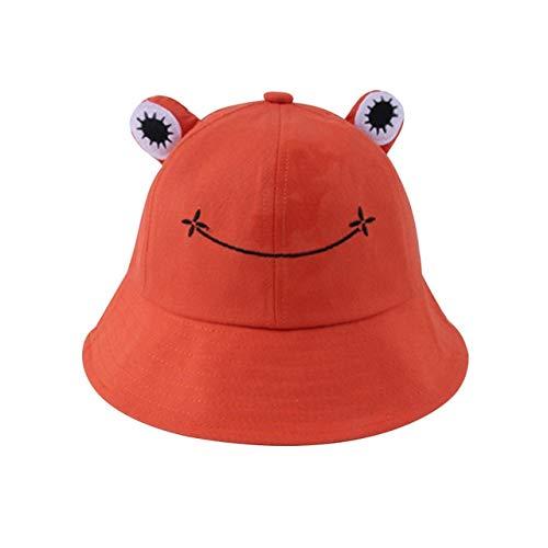 Sombrero de Cubo para Mujer Verano Otoño Llanura Mujer Senderismo al Aire Libre Playa Pesca Gorra Protector Solar Mujer Sombrero para el Sol-orange-1-Adlut(56-58cm)