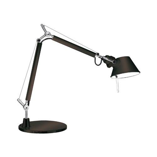 Artemide Tolomo Micro Tavolo tafellamp, zwart gelakt met voet