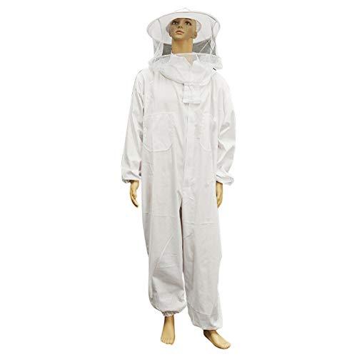 POHOVE Apicultura traje chaqueta apicultura con velo redondo profesional apicultura completa ventilada chaqueta apicultura ropa protectora para principiantes y comerciales apicultores