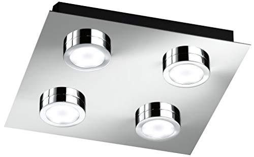 Action Deckenleuchte, 4-flammig, Serie Veneta, 4 x LED, 3 W, Breite 25 cm, Höhe 4 cm, Tiefe 25 cm, K