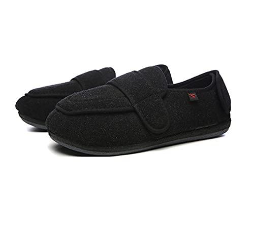 WENHUA Mujer y Hombre para diabéticos, El pie Gordo de Ancho Polaroid se Puede Ajustar a un Zapato Ancho, B_46, Sandalias de Punta Abierta de Ancho Extra