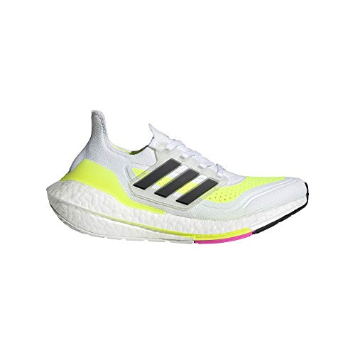 adidas Ultraboost 21 J, Zapatillas de Running Unisex Adulto, FTWBLA/NEGBÁS/Amasol, 39 1/3 EU