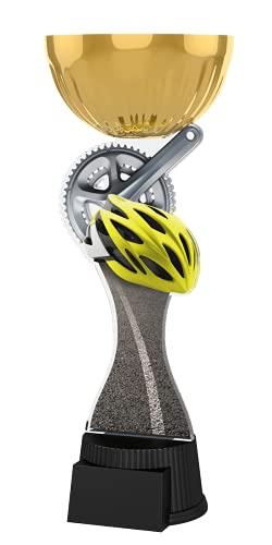 Trophy Monster Plato grabado gratuito para ciclismo Gold Cup | Increíble valor | para clubes y presentaciones | Hecho de metal y acrílico impreso (compra en 3 tamaños) (210 mm)