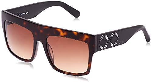 Swarovski Sonnenbrille SK0128 5652F Gafas de sol, Marrón (Braun), 56 para Mujer