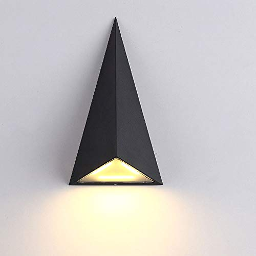 HW Moderne wandlamp, LED voor buiten, driehoekig, waterdicht, tuin, licht, gang, balkon Villa
