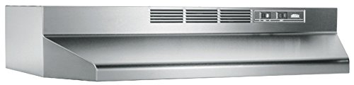 Broan-NuTone 414204 Ductless Range Hood Insert with Light, Exhaust Fan for Under Cabinet, Stainless Steel, 42' Broan 41000, Inch